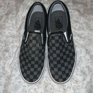 checkered vans size 8.5